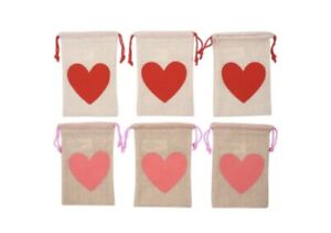 New Kids Birthday Party Treat Bags Lot Of 20 Pink and Red Hearts