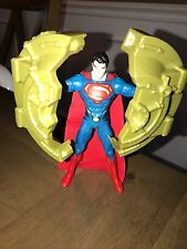 "Man of Steel Movie Superman Bank Breaker Power Attack Deluxe 6"" Fig Y0810 (4)@"