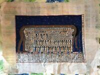 VINTAGE Egyptian Papyrus Genuine art painting