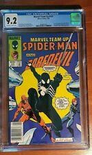 MARVEL TEAM-UP #141, 1st Black Costume!! NEWSSTAND CGC NM- 9.2, OW/W Pages!