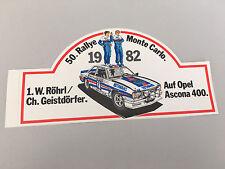 Opel Ascona B 400 50. Rallye Monte Carlo 1982 Röhrl/Geistdörfer Aufkleber