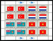 VN / UNO Vlaggenvellen 1980 postfris (Yvert 316 - 331)
