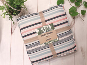 Tommy Bahama Indoor Outdoor Seat Cushions Set of 2 Multicolor Striped 18x18 NEW