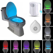 8/16 Colors LED Toilet Bathroom Night Light Motion Activated Seat Sensor Lamp