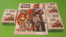 TOPPS Star Wars gli ultimi cavalieri Jedi sticker album + 3 x Display - 90 Sacchetti