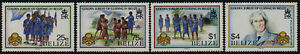 Belize 873-6 MNH Girl Guides,  Lady Baden-Powell, Flags