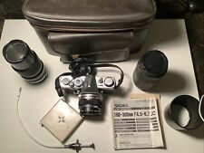 Olympus OM1 N 35mm SLR Film Camera with 50mm lens Kit and accessories