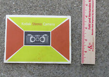 Original 1950s Kodak Stereo Camera Instruction Booklet
