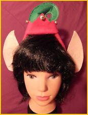 Li'l ELF Christmas HEADBAND with EARS and BELLS Santa's Helper School Home Party