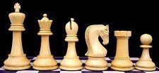 "Leningrade Series Premium Staunton 4""  Black and Box Wood Chess Set"