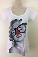 Stella McCartney Marilyn Monroe Comic Relief Red Nose Top Organic Cotton Size XS
