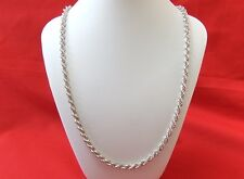 Vintage  925 Sterling Silver  Rope Twist Necklace