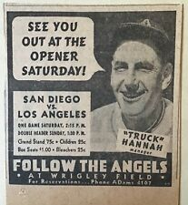 1937 newspaper ad for Los Angeles Angels Pacific Coast League Opening Game