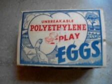 Vintage Hard Plastic Fill Toy Easter Eggs Chick Prizes in Original Carton Box