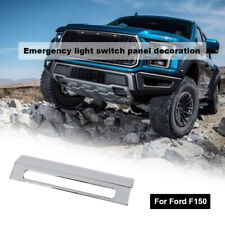 Emergency Warning Light Control Switch Cover Trim For Ford F150 2015+ Chrome