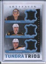 2013 Upper Deck Rask / Chara / Horton Tundra Trios Tripple Patch Hockey Card