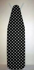 Handmade Custom Ironing Board Cover Black & White medium Polka Dots