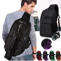 Travel Camera Sling Shoulder Backpack Bag for Canon Nikon Sony DSLR & Mirrorless