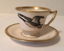 Vintage CANADA GOOSE DEMITASSE CUP & SAUCER Collectible Flying Geese China Tea