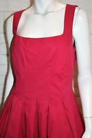 CUE Brand Women's Red Pleated Sleeveless Petticoat Dress Size 12 BNWT #HG13
