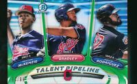 2018 Bowman Chrome Talent Pipeline Green Refractor Mckenzie Bradley Rodriguez RC