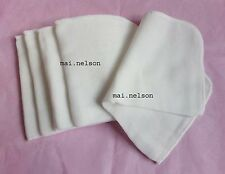 100% Cotton Muslin Flannel FACE CLOTHS Facial Cleanser x 5 Made in UK Cleansing
