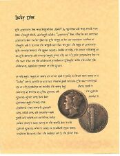 Book of Shadows Spell Pages ** Lucky Dime ** Wicca Witchcraft BOS