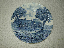 VTG ROYAL ESSEX BLUE & WHITE SIDE OR TEA PLATE - SHAKESPEARES COUNTRY