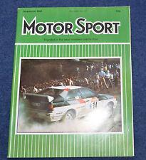 Motor Sport November 1981 Las Vegas GP, Triumph Acclaim, Mazda RX7, Fuego