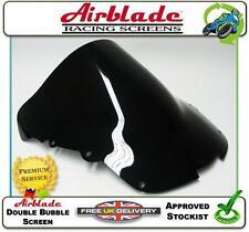 NEW AIRBLADE DOUBLE BUBBLE SCREEN DARK SMOKED TINT HONDA CBR1100 BLACKBIRD 97 >