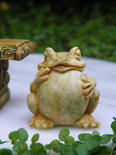 Miniature Dollhouse FAIRY GARDEN Accessories ~  Tan Frog Toad Statue ~ NEW