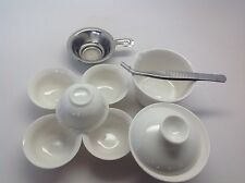Gong Fu Tea Travel Set  (pure White) Very Cute 3.5 Oz Gaiwan