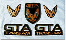 NEW 87-90 GTA Trans Am Emblem 5pc Set (BLACK)