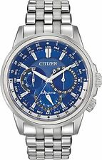 Citizen BU2021-51L Men's Eco Drive Calendrier Multifunction World Time Watch