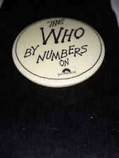 THE WHO Original vintage pin badge by numbers on polydor