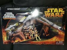 Star Wars Republic Gunship Green New Sealed by hasbro ROTS rare misb