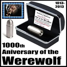 2013 1000th Anniversary Werewolf 1oz 999 Pure Silver 45 Full Metal Jacket Bullet