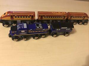 Imaginarium Express Orange Bullet Train Blue Freight Caboose Thomas Compatible