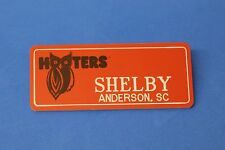 ORANGE HOOTERS GIRL NAME TAG PIN (name in white) SHELBY Anderson, SC