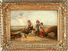 Antike Ölgemalde Weinendes Mädchen Wunderschönes Werk Britische Schule um 1830