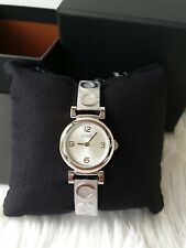 NWT! Coach 14501687 Ladies Madison Silver SS Bracelet Bangle Watch C Logo $100