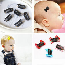 50Pcs 32mm Black U Shape Snap Metal Clips For Hair Extensions Weft Clip-on WB