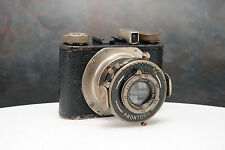 - Rare Black Wirgin Gewirette 127 Camera, Made in Germany, Meyer Trioplan 5cm Le