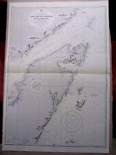 "1972 ne Costa Terranova St John Bay-Belle Isle mapa de navegación 28"" X 41"" B82"