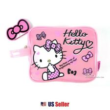 Hello Kitty Cosmetic Multi-purpose Large Rectangular Case Pouch : Pink Ribbons