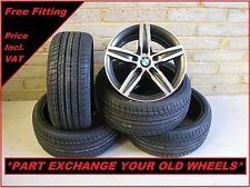 "2277 Genuine 17"" BMW 379 1 Series F20 2 3 Series Alloy Wheels & New Tyres"