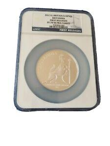 Rare 2013 NGC PF70 UltraCameo Royal Mint Britannia £10 Silver Proof 5oz Coin