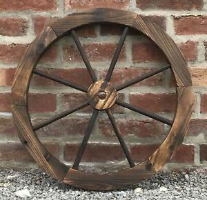 Ornamental Wooden Garden Cart Wagon Wheel Wood Cartwheel 60cm Diameter