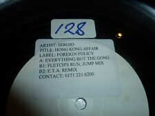 "Sergio-Hong Kong Affair-Reino Unido 3-track 12"" Vinilo Single-Dj Promo"
