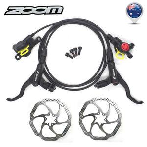 ZOOM HB-875 Hydraulic Disc Brake Set MTB Bike 160/180mm Disc Brake 6 Bolts Rotor